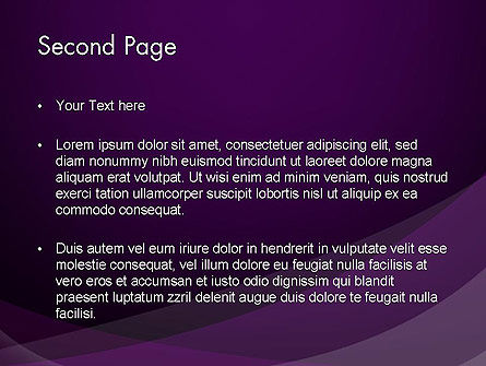 Abstract Violet PowerPoint Template Slide 2