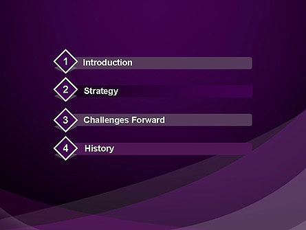 Abstract Violet PowerPoint Template Slide 3