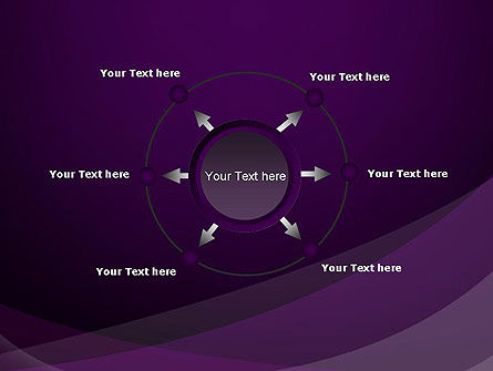 Abstract Violet PowerPoint Template Slide 7