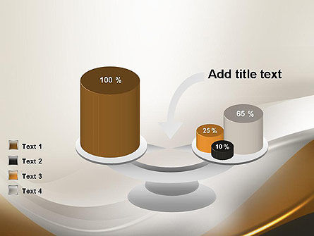 Abstract Silver Gold and Bronze Waves PowerPoint Template Slide 10