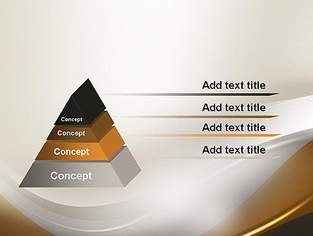 Abstract Silver Gold and Bronze Waves PowerPoint Template Slide 12