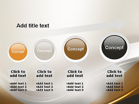 Abstract Silver Gold and Bronze Waves PowerPoint Template Slide 13