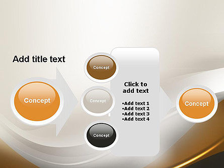 Abstract Silver Gold and Bronze Waves PowerPoint Template Slide 17