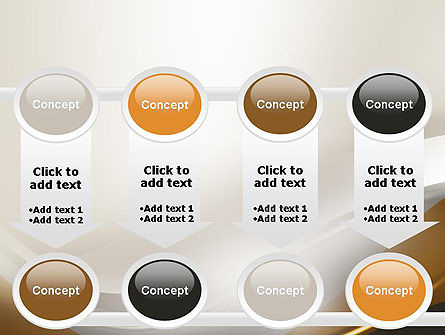 Abstract Silver Gold and Bronze Waves PowerPoint Template Slide 18