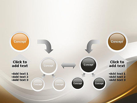 Abstract Silver Gold and Bronze Waves PowerPoint Template Slide 19