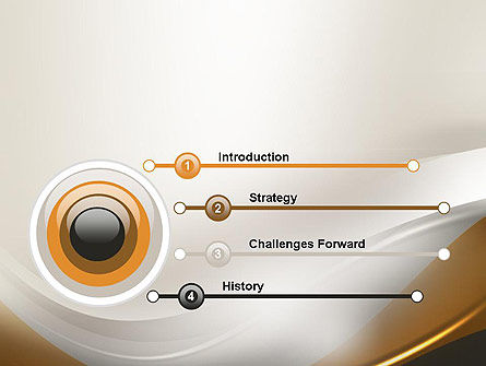Abstract Silver Gold and Bronze Waves PowerPoint Template Slide 3