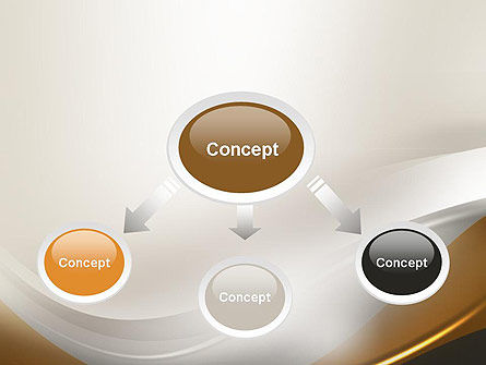Abstract Silver Gold and Bronze Waves PowerPoint Template Slide 4