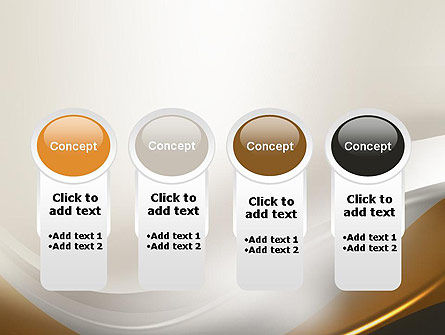 Abstract Silver Gold and Bronze Waves PowerPoint Template Slide 5