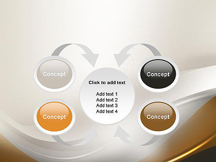 Abstract Silver Gold and Bronze Waves PowerPoint Template Slide 6