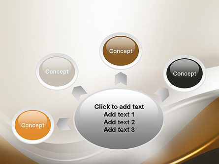Abstract Silver Gold and Bronze Waves PowerPoint Template Slide 7