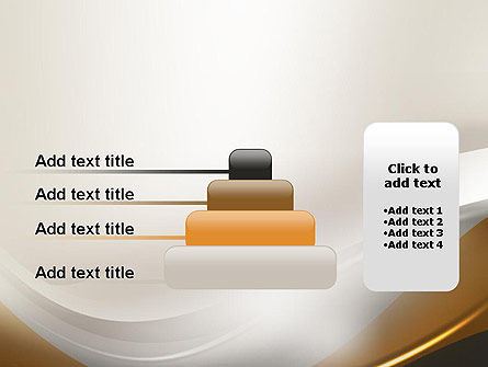 Abstract Silver Gold and Bronze Waves PowerPoint Template Slide 8