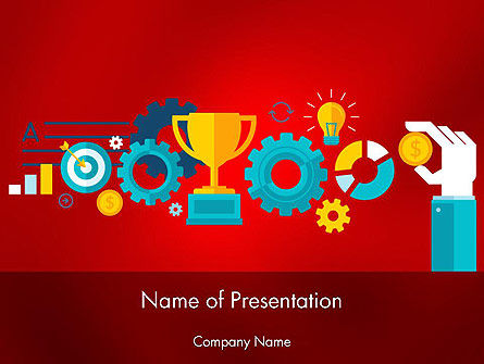 Business Concepts: Winning Strategy Concept PowerPoint Template #12292