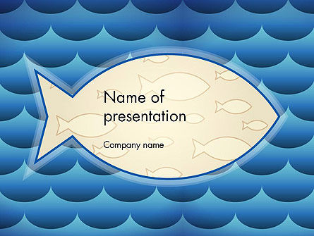 fish theme background powerpoint template, backgrounds | 12293, Modern powerpoint