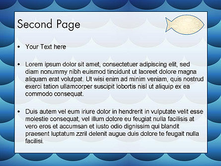 Fish Theme Background PowerPoint Template Slide 2