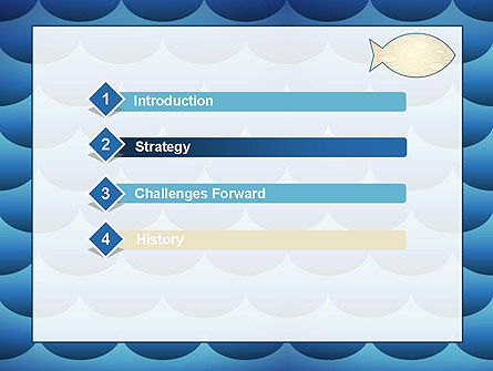 Fish Theme Background PowerPoint Template Slide 3