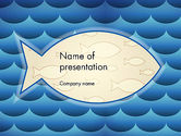 Abstract/Textures: Fish Theme Background PowerPoint Template #12293