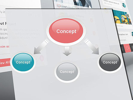 Application Screens Mockup PowerPoint Template, Slide 4, 12294, Art & Entertainment — PoweredTemplate.com