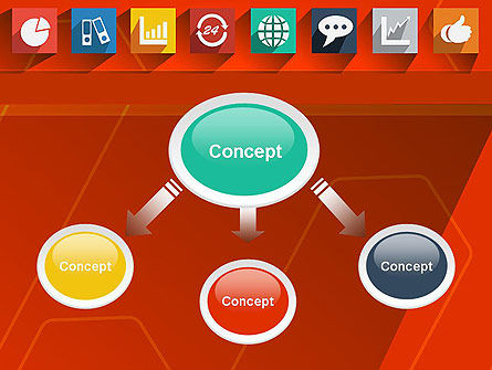 Flat Icons on Red Background PowerPoint Template, Slide 4, 12295, Careers/Industry — PoweredTemplate.com