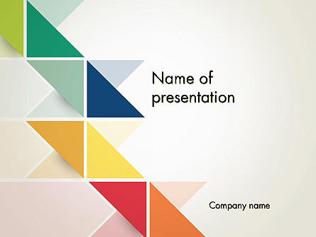 Abstract/Textures: Colorful Triangles PowerPoint Template #12296