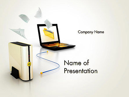 Data Backup and Recovery PowerPoint Template, 12297, Technology and Science — PoweredTemplate.com