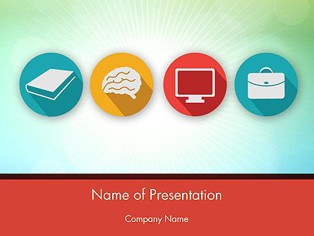 Education Icons PowerPoint Template