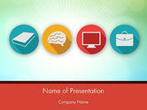 Education & Training: Education Icons PowerPoint Template #12299