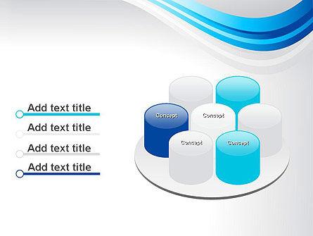 Elegant Blue Wave PowerPoint Template Slide 12