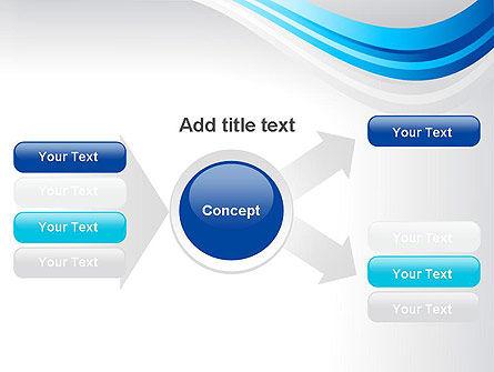 Elegant Blue Wave PowerPoint Template Slide 15