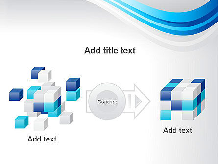 Elegant Blue Wave PowerPoint Template Slide 17