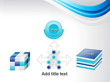 Elegant Blue Wave PowerPoint Template Slide 19