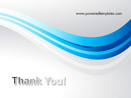 Elegant Blue Wave PowerPoint Template Slide 20