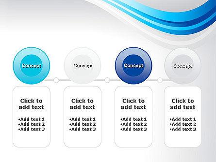 Elegant Blue Wave PowerPoint Template Slide 5