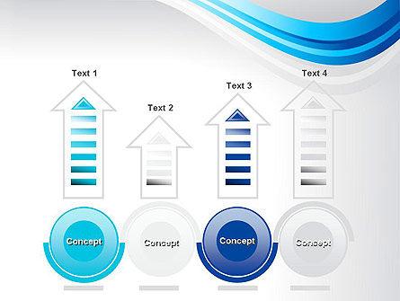 Elegant Blue Wave PowerPoint Template Slide 7