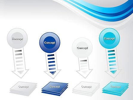 Elegant Blue Wave PowerPoint Template Slide 8