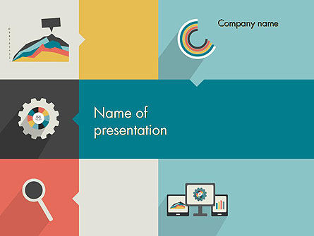 Business Concepts: Proces Met Platte Pictogrammen PowerPoint Template #12302