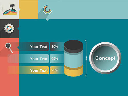 Process with Flat Icons PowerPoint Template Slide 11