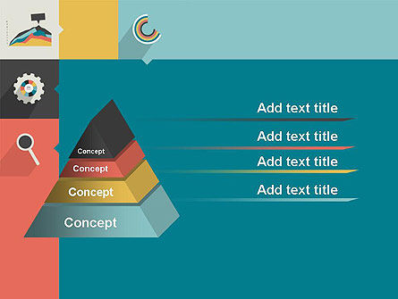 Process with Flat Icons PowerPoint Template Slide 12