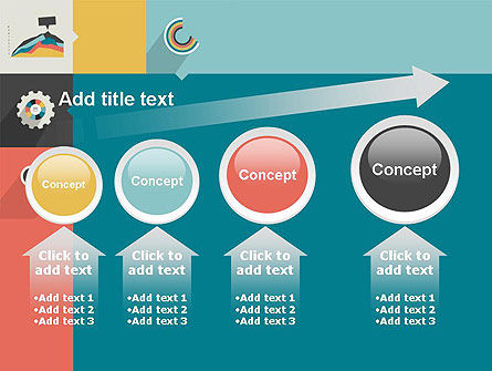 Process with Flat Icons PowerPoint Template Slide 13