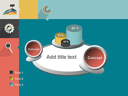 Process with Flat Icons PowerPoint Template Slide 16