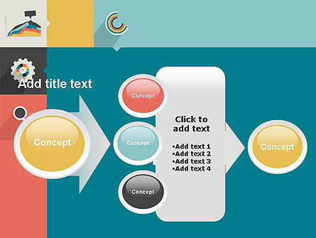 Process with Flat Icons PowerPoint Template Slide 17