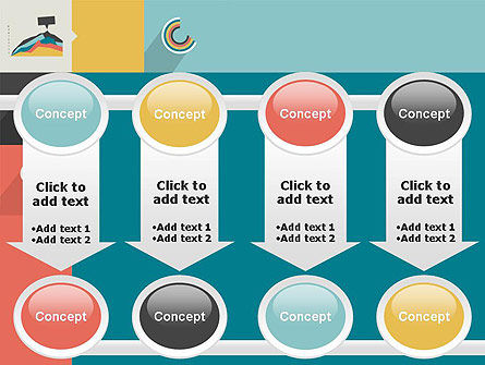 Process with Flat Icons PowerPoint Template Slide 18