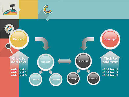 Process with Flat Icons PowerPoint Template Slide 19