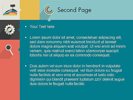 Process with Flat Icons PowerPoint Template Slide 2