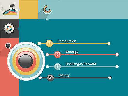 Process with Flat Icons PowerPoint Template Slide 3