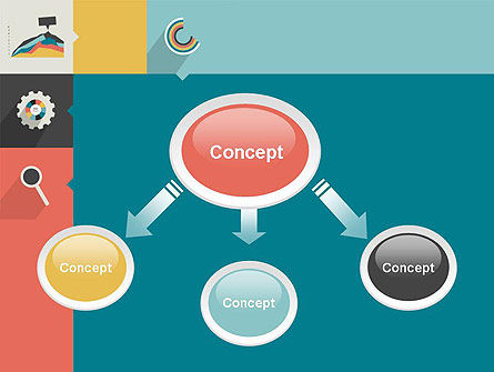 Process with Flat Icons PowerPoint Template Slide 4