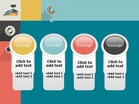 Process with Flat Icons PowerPoint Template Slide 5