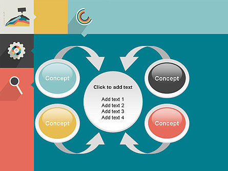 Process with Flat Icons PowerPoint Template Slide 6