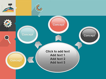 Process with Flat Icons PowerPoint Template Slide 7