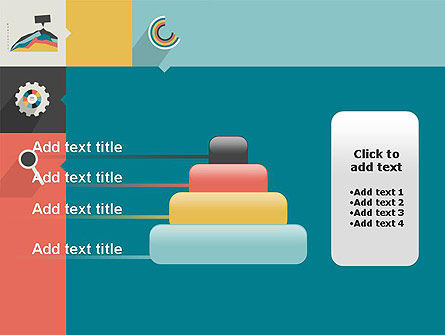 Process with Flat Icons PowerPoint Template Slide 8