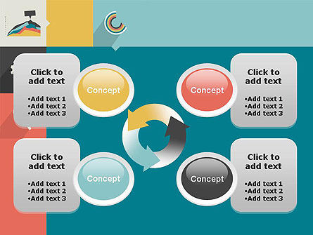 Process with Flat Icons PowerPoint Template Slide 9
